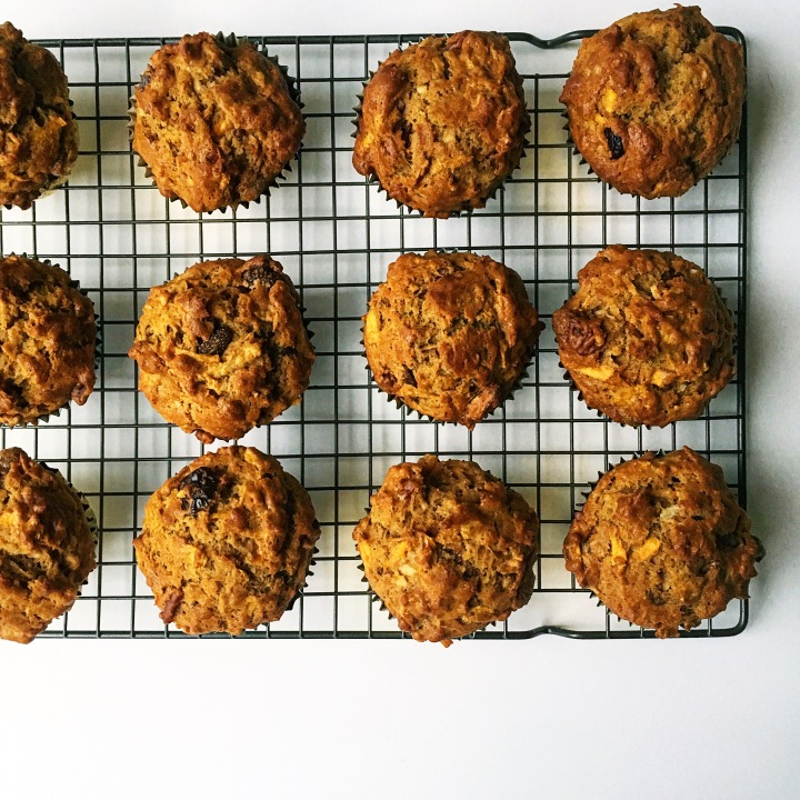 Morning Glory Sweet Potato Muffins