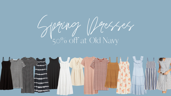 50% Off Spring Dresses at Old Navy